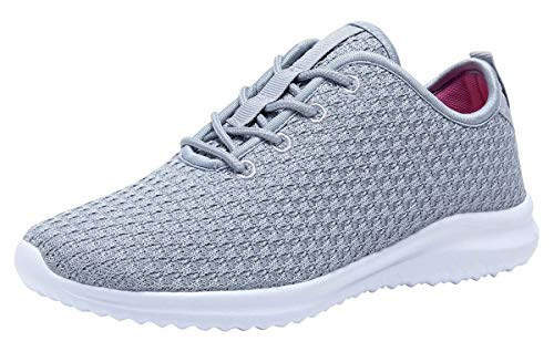 YILAN Women's Fashion Sneakers Breathable Sport Shoes (8.5, Grey)