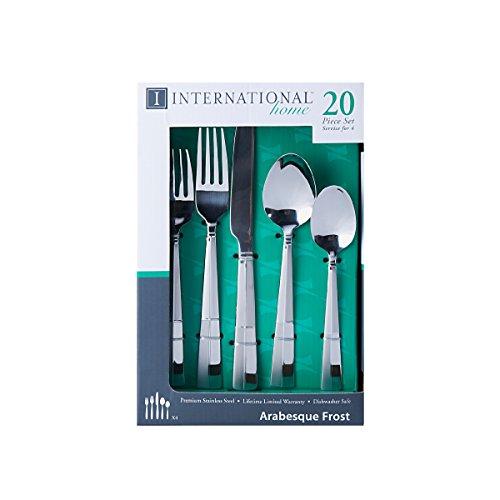 International Silver Arabesque Frost Stainless Steel Flatware Set,