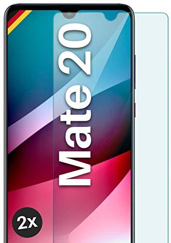 moex Panzerglas kompatibel mit Huawei Mate 20 - Schutzfolie aus Glas, bruchsichere Bildschirmschutz Folie, Crystal Clear Panzerglasfolie, 2X Stück
