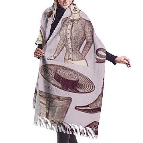 Joy Edward Pashmina Damen Umschlagtuch Kaschmirschal Warm Schal Schaltuch Stola Vektormaterial von europäischen Charakteren und Kleidung im 19. Jahrhundert 77x27 in
