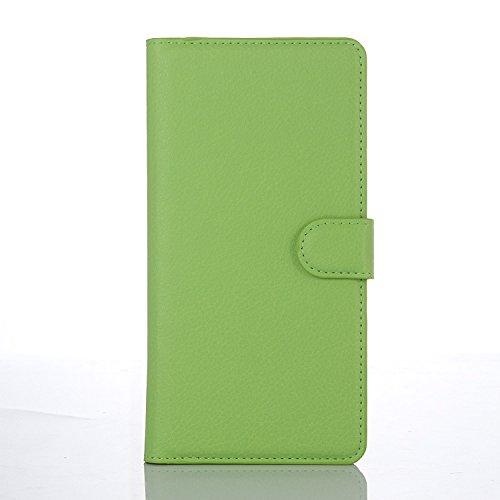 Easbuy Pu Leder Kunstleder Flip Cover Tasche Handyhülle Hülle Mit Karte Slot Design Hülle Etui für Huawei Ascend Y600 Smartphone Handytasche