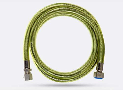 CHUTD slang roestvrij staal 304 buis natuurgas gaskachel gasbrander waterkoker metaal 4 m (grootte: plug-in + plug-in)