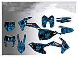 Wjyfexble Motocross Gráficos Fondos Etiquetas engomadas para KTM Exc excuc 2020 2021 SX SXF125-250 350 450 2019 2020 WYJHN (Color : Blue)