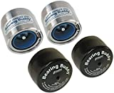 Bearing Buddy (2) 1.980' Stainless Steel with Protective Bra & Blue Auto Check Feature for Boat Trailer Wheel Center Caps 1980A-SS 42208 (1 Pair)