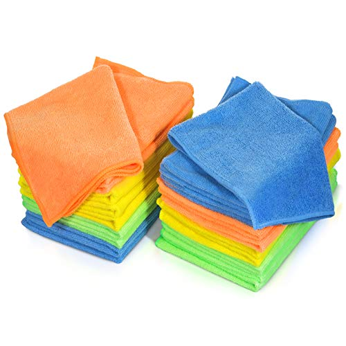 MASTERTOP 24Pcs/Pack Microfiber Dust Cleaning Cloth