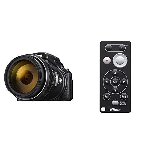 Nikon Coolpix P1000 Digitalkamera (16 Megapixel, 125-Fach optischer Megazoom, 3.2 Zoll RGBW-Display, 4K UHD-Video, WI-Fi) & ML-L7 Bluetooth Fernbedienung