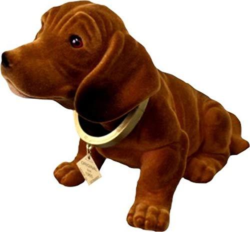 Bobble-Dachshund figura 29 cm Bobble-Head perro Dachshund Dog Bobble-Dachshund coche