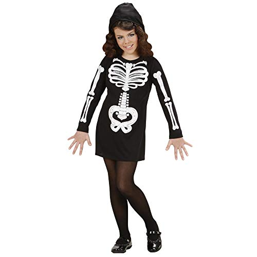 Widmann 74616 ? Enfants Costume Squelette Girl, Robe avec Capuche