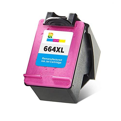 Cartuchos de tinta 664XL, de alto rendimiento para impresora HP Deskjet Ink Advantage 2675 1115 2135 2676 3635 5076 5076 5078 reemplazo negro y color x 1