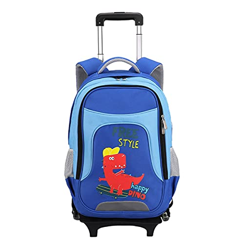 YUTCRE Mochila Escolar con Ruedas Trolley Bag Equipaje Mochilas Carro Unisex Mochila Escolar Trolley Estuche Escolares para Niños Niñas Adolescentes (Color : Blue, Size : 48 * 34 * 24cm)