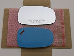 WIDE-ANGLE/BLIND SPOT Replacement Mirror Glass with FULL SIZE ADHESIVE for 2003-2011 SAAB 9-3 93/2003-2009 SAAB 9-5 95 Passenger Side View Right RH