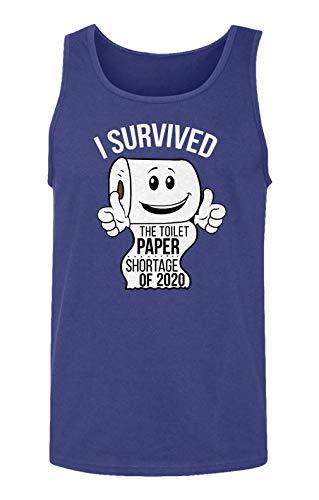 Sheki Apparel Coronavirus 2020 Toilet Paper Shortage Covid 19 Humor Men's Tank Top (Royal, X-Large)