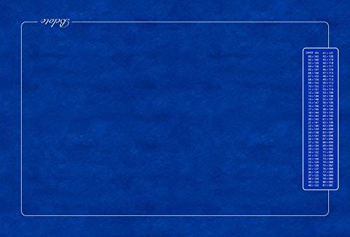 Tapis - belote - avec Points Bleu 60x40 cm. Fabrication Française