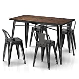 wood and metal kitchen chairs - VIPEK Metal 18 Inches Dining Chairs & 30
