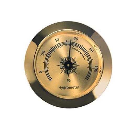 feiledi Trade Tabak Zigarren Humidor Hydrometer – 5,1 cm Digitales Zigarren Humidor Hygrometer Thermometer rund für Humidoren Rauchen Feuchtigkeit Sensitive Messgerät B