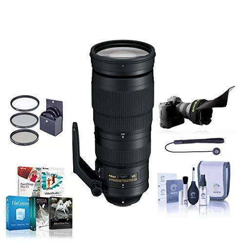 Nikon 200-500mm f/5.6E ED AF-S VR Zoom NIKKOR Lens- Bundle with 95mm Filter Kit, Flex Lens Shade, Cleaning Kit, Cap...