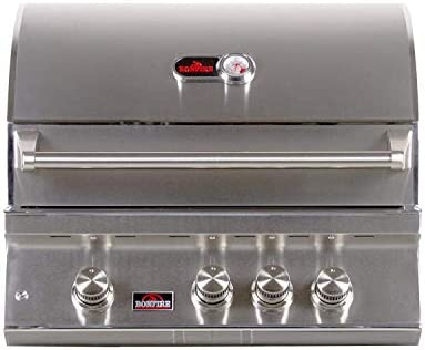 Bonfire CBB3NG Natural Gas Grill Drop In Outdoor BBQ for Built In Kitchen With Infrared Burner product image