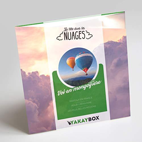 YAKAYBOX   Coffret Cadeau Vol en Montgolfière   Box +30 Vols en Ballon   Baptême de l'Air pour Un Voyage Original en France Jusqu'à 3 h