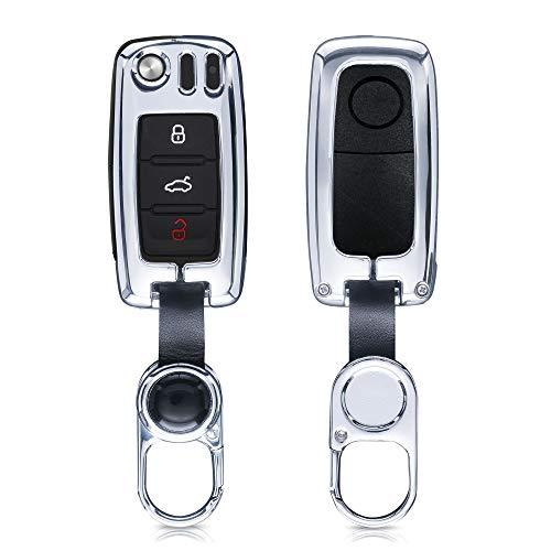 kwmobile Funda para Llave de Coche Compatible con VW Skoda Seat - Carcasa Protectora Dura de Metal p