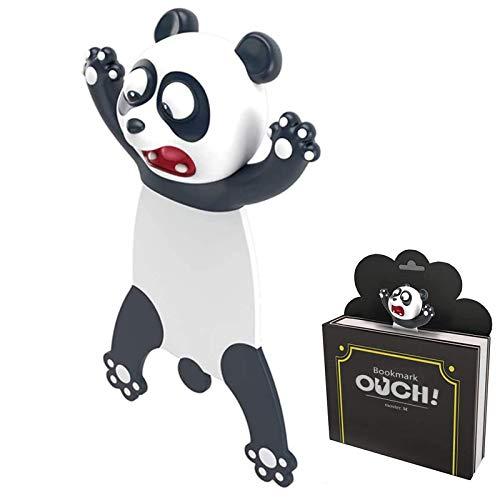Marcador de Libro 3D Animal Marcapáginas de Dibujos Animados Marcapáginas de Animales PVC Marcador de Página Marcadores de Lectura para Libro Regalo para Estudiantes Oficina Papelería (Panda)