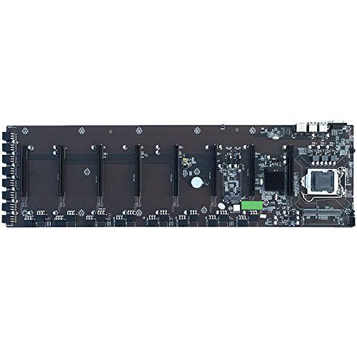 Nrpfell CPU de Placa Base BTC-B75 Miner LGA 1155 para/Pentium/Celeron con 8 Ranuras para Tarjeta GráFica para la Serie RX / GTX10 / GTX20
