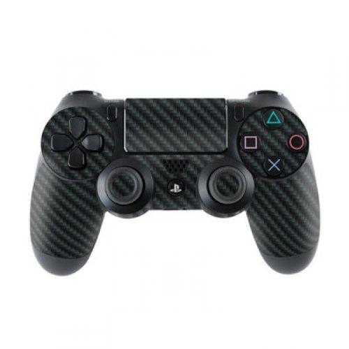 Skins4u Controller Aufkleber Design Schutzfolie Skin kompatibel mit Sony Playstation 4 PS4 Carbon