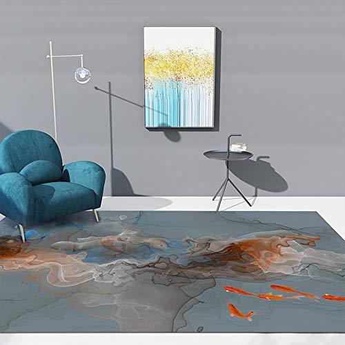 Zhao Li vloerbedekking voor grote woonkamerdeken, dikte 0,39 inch, kristal-velours, voor slaapkamer, eetkamer, gemakkelijk te reinigen en duurzaam in Chinese stijl