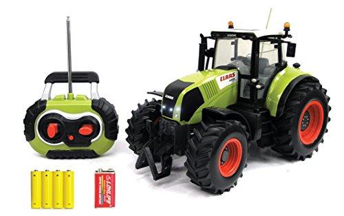 RC Traktor kaufen Traktor Bild 1: Siva Claas Traktor Trekker Bulldog Axion 850 mit Fernsteuerung | Ferngesteuertes Fahrzeug im original Claas-Design mit Lichtfunktion vorne und hinten*