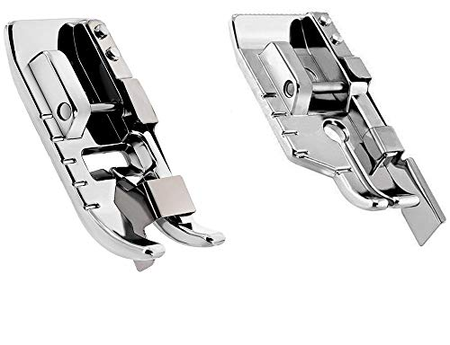 YaDu Pack of 1/4''(Quarter inch) Quilting Patchwork Presser Foot and Stitch in Ditch Foot.Fits for Low Shank Domestic Sewing Machine. Snapping On Brother, Babylock, Singer, Janome