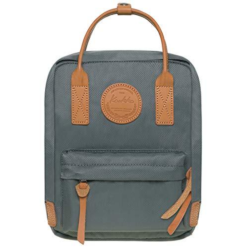 KAUKKO Studenten Rucksack für Mädchen Jungen fit 8 Zoll Laptop 21 * 10 * 26 cm, 5.5 L (Grau JNL-K1007-4-09)