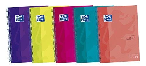 Oxford Touch - Pack de 5 cuadernos espiral de tapa extradura, A4+