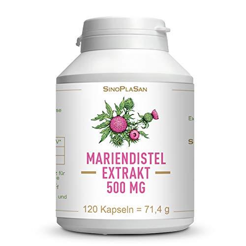 Mariendistelextrakt 500 mg Kapseln || 400 mg Silymarin (80%) pro Kapsel) || 120 Kapseln || silybum marianum || SinoPlaSan AG