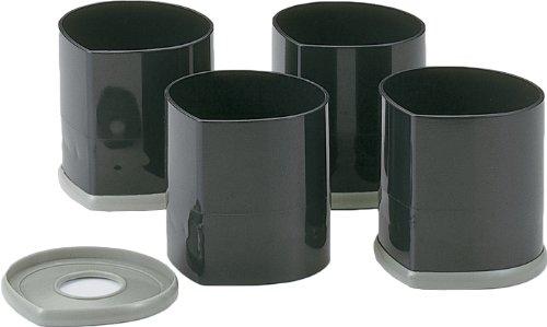 石丸合成樹脂 こたつの継脚 NEWハイヒール ブラック 9×9.5×9.5cm