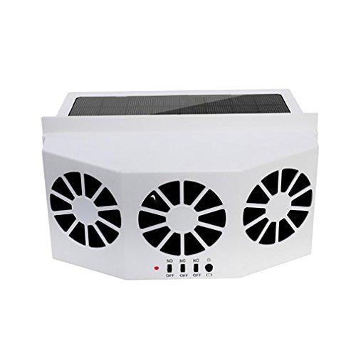 Car Heater Oplaadbare accu, autoventilator op zonne-energie aangedreven ventilator autoraam ventilatie luchtventilatie ventilatie autoventilator