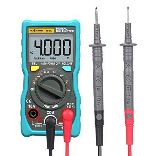 Multímetro digital Multímetro digital portátil Pantalla LCD RM404A automática de escalas Herramientas del voltaje de CC Amperímetro AC / medición de corriente Medición de voltaje, corriente y resisten