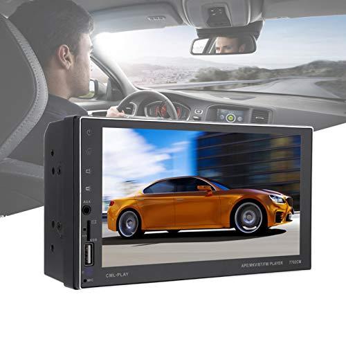 FOLOSAFENAR Stereo MP5 Player Black MP5 Player Navigation 7702CM 7.0'HD, para Transporte, para automóviles