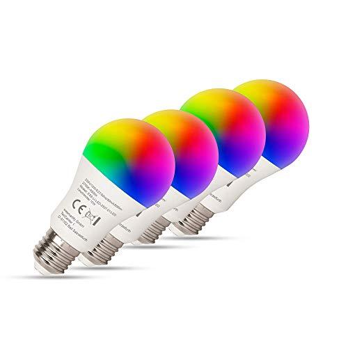 essentials Smart Home WLAN Glühbirne im 4er Set, 10 W, E27 Fassung, LED Lampe steuerbar über Alexa und Google Home