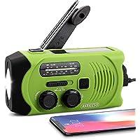 AKRICCSO Emergency Solar Hand Crank Portable Radio