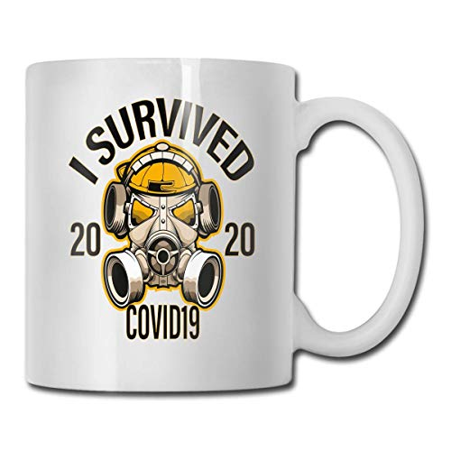 CORONAVIRUS Memes T Shirt Design I Survived COVID 19 2020 tazza di caffè tazza 11 oz carenza umorismo bavaglio regalo co lavoratore