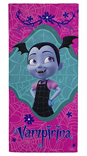 Jay Franco Vampirina Kids Bath/Pool/Beach Towel - Super Soft & Absorbent Fade Resistant Cotton Towel, Measures 28 inch x 58 inch (Official Product)