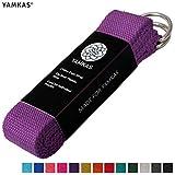 Yamkas Sangle de Yoga | 1.8M - 3M | Ceinture Yoga avec Fermeture en Métal | 100%...