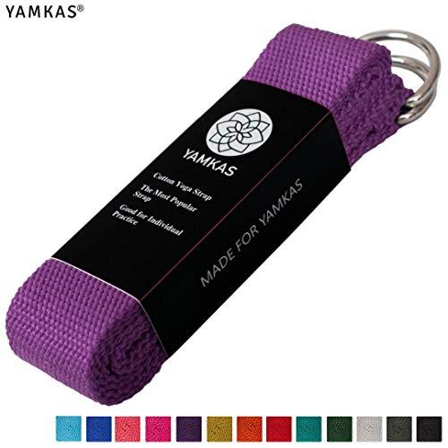 Yamkas Yogariemen Katoen 183 cm & 300 cm met ijzeren D-Ring Buckle