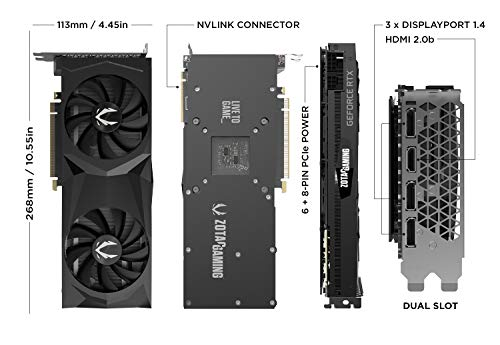 ZOTAC GAMING GeForce RTX 2070 SUPER TWIN FAN 8GB GDDR6 Grafikkarte - 3x DisplayPort/1x HDMI