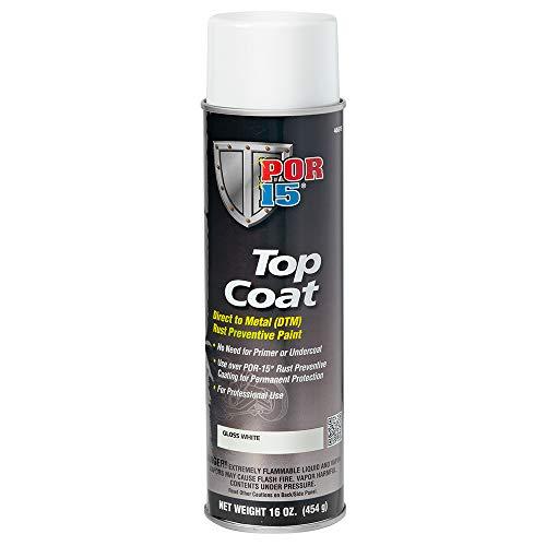 POR-15 46818 Top Coat Gloss White Spray Paint 16 fl. oz.