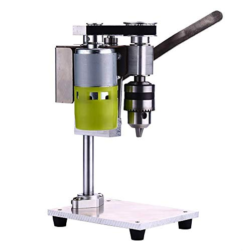 Bench Drill, Elikliv 1000-4500 RPM Mini Adjustable Benchtop Drill Presses, Chuck 1.5-10mm Drill Table Press, Wood Drilling Machine for Iron, Aluminum, Plastic Plate