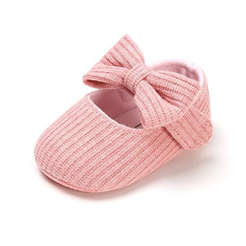 Zapatillas de bebé para 0-18 Meses, Zapatos de Suela Suave Antideslizante Bowknot Princesa para bebés Zapatos de Bautizo