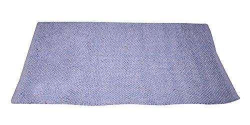VLiving réversible Forme rectangulaire Home Decor 100% Coton Super Absorbant Chambre à Coucher de Salle de Bain de Bain, Bleu, Tapis de Sol, Taille 50,8 x 78,7 cm