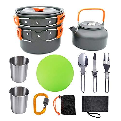 DADD Kit de Utensilios de Cocina para Acampar de 10 Piezas Juego...