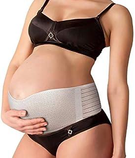 NU MOMZ Belly Band for Pregnancy Support - Maternity Belt for Back Hip & Pelvic Discomfort - Prenatal & Postpartum Tummy Wrap - Pregnancy Belt - Breathable Abdominal Sling - Beige