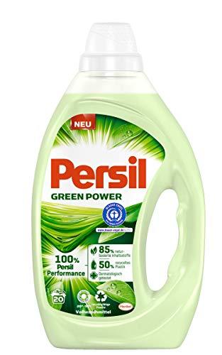 Persil Green Power, Universal Flüssigwaschmittel 20 (1 x 20) Waschladungen mit natürlichen und pflanzlichen Inhaltsstoffen